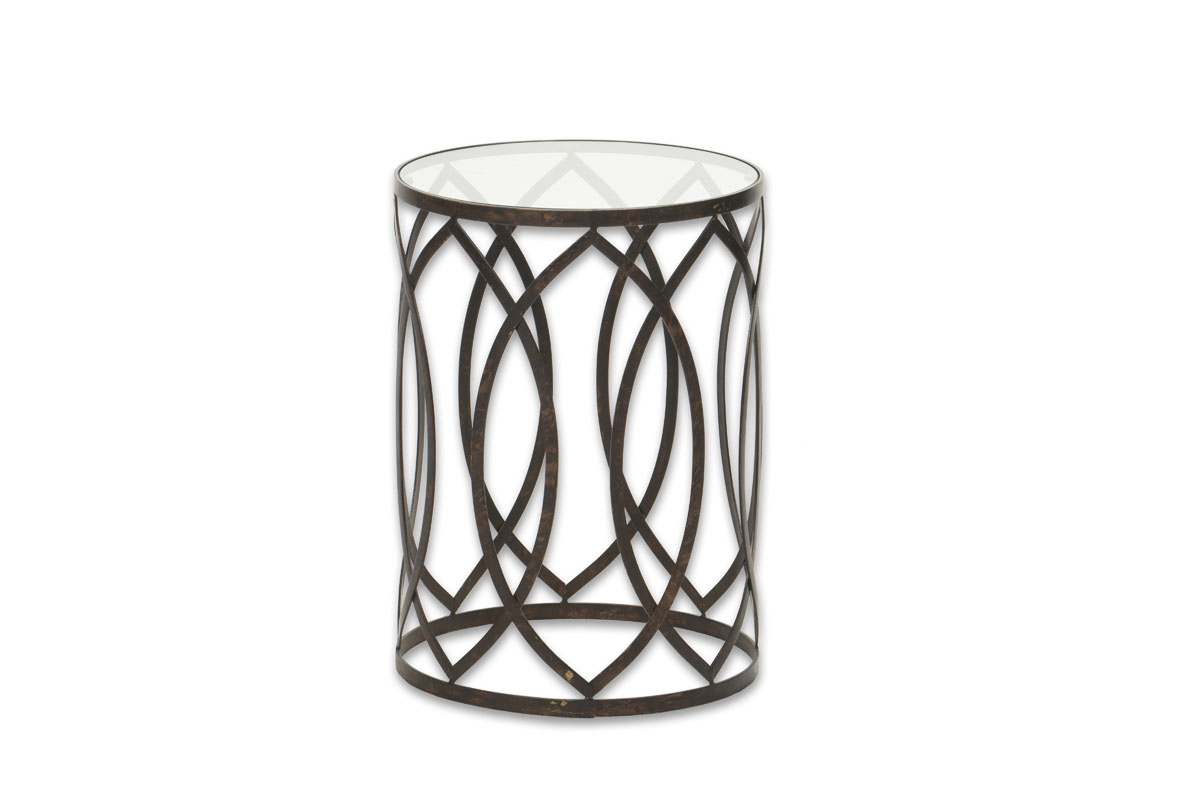Excellent Bronze Metal Glass End Table Canvas Event Furniture Home Interior And Landscaping Eliaenasavecom