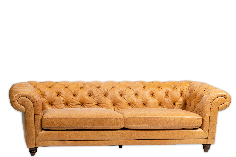 A 03 Crawford Sofa Camel Leather