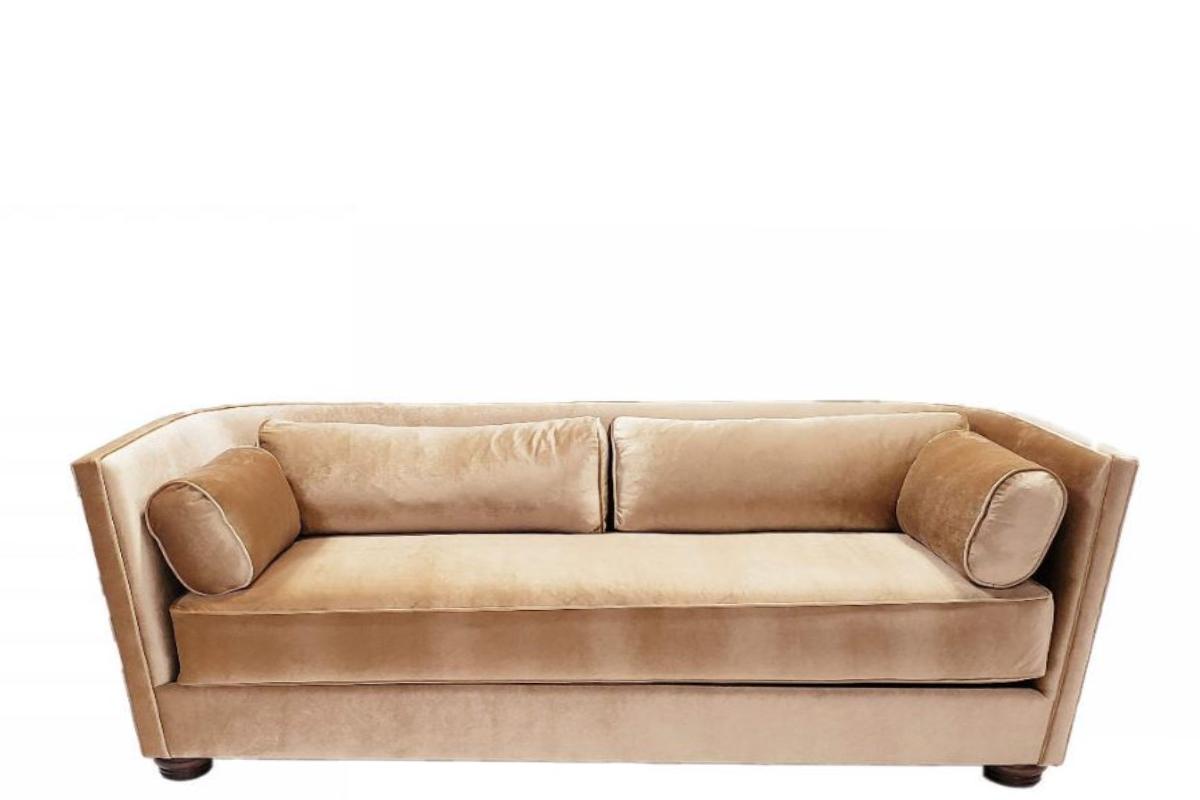 B 09 Gold Velvet Sofa Canvas Event