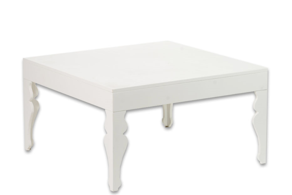 D 02 White Square Coffee Table Canvas Event Furniture