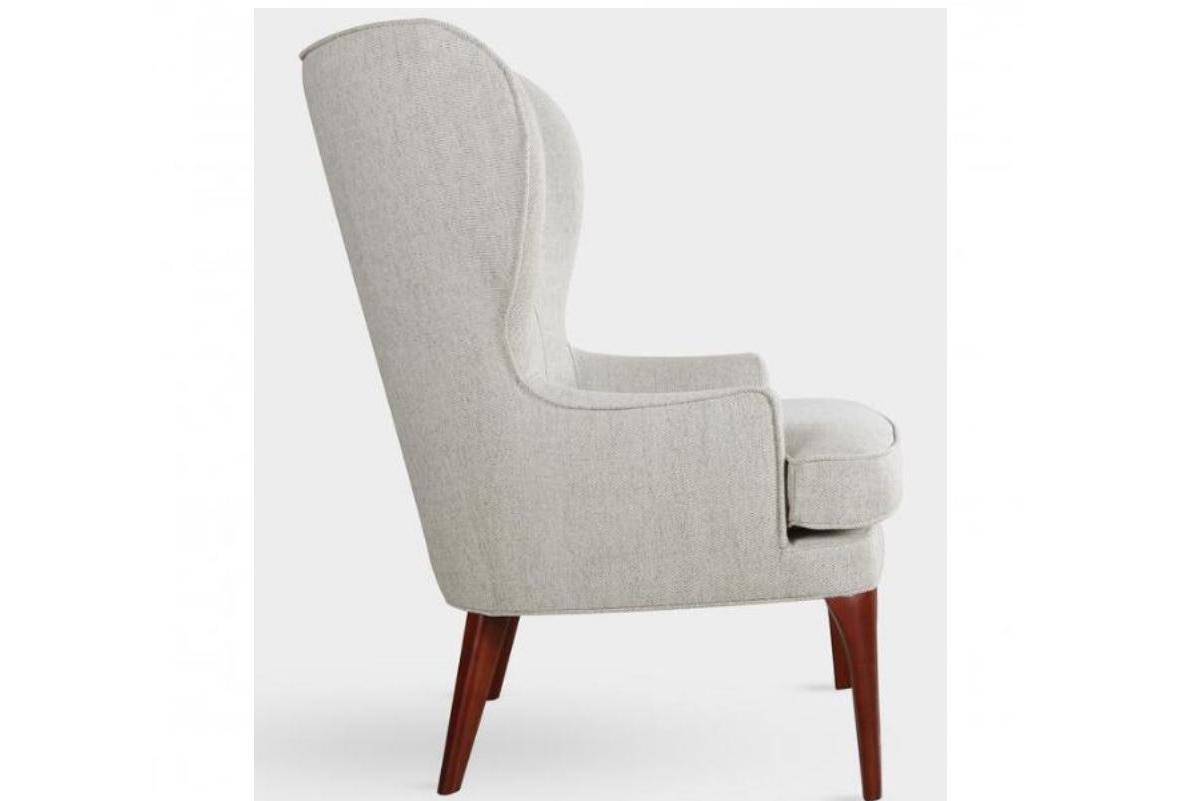 B 07 Oatmeal Wingback Chair